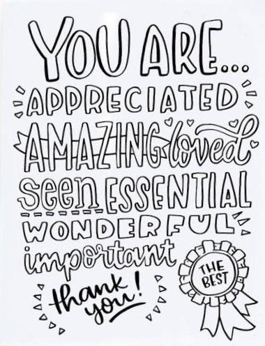 Picture of Thank You Coloring Card card by SKETCHY NOTIONS