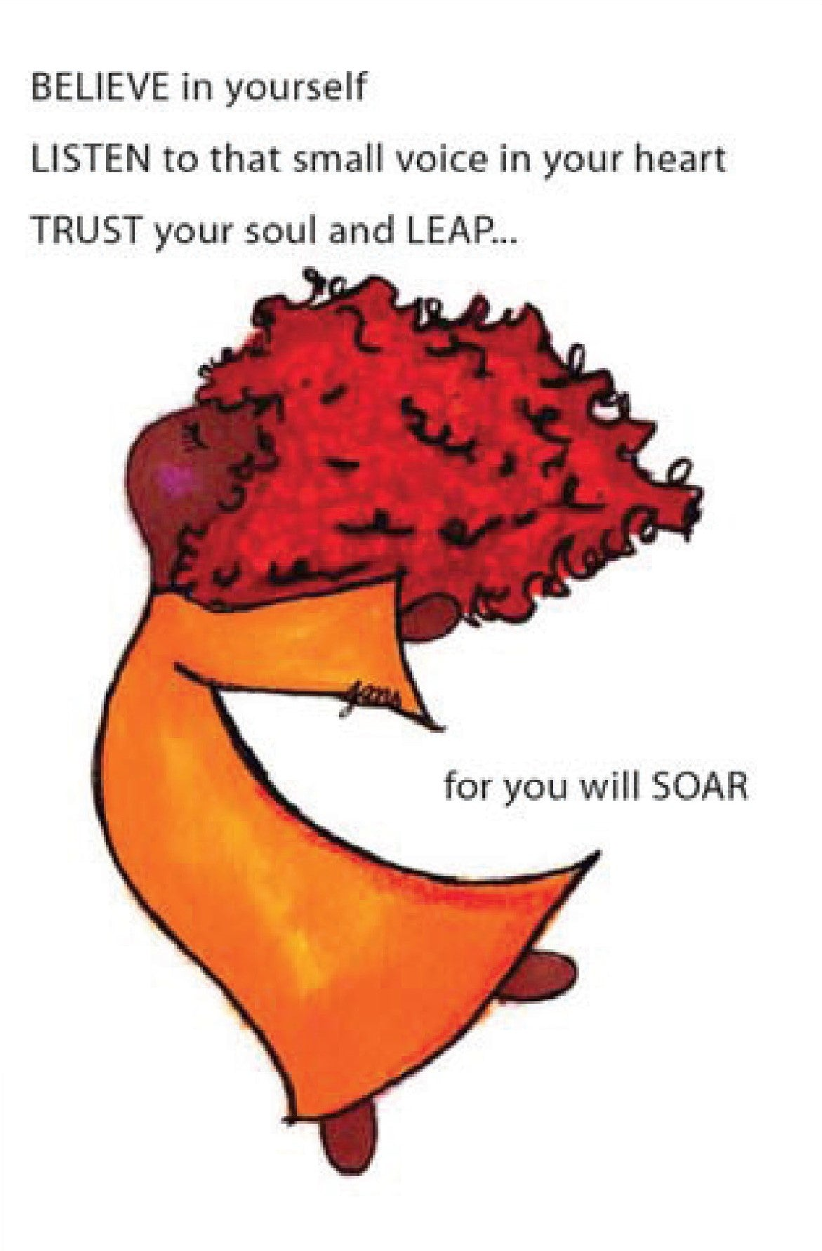 Picture of Soar card by LITTLE FEET'S OPUS