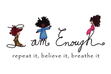 Picture of I Am Enough card by LITTLE FEET'S OPUS