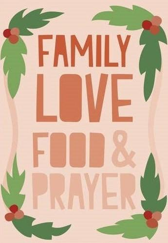 Picture of Family Love Food Prayer card by BY MS. JAMES