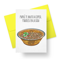 Frijoles en la casa Mother's Day Card in Spanish by Paper Tacos at CheerNotes