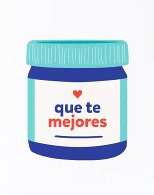 Picture of Que te Mejores card by GRAPHIC ANTHOLOGY