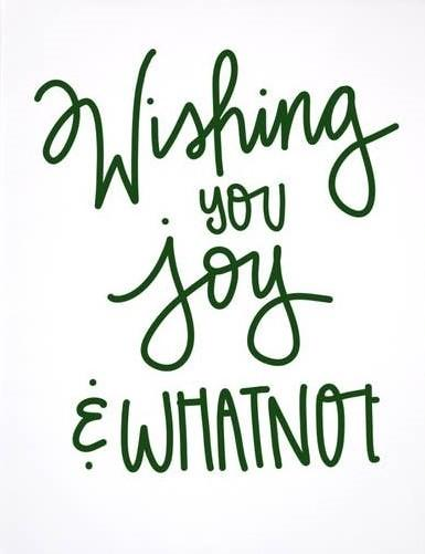 Picture of Wishing You Joy and Whatnot card by PRETTY PEACOCK PAPERIE