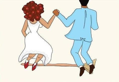 Picture of Jumping the Broom- Him and Her card by BY MS. JAMES