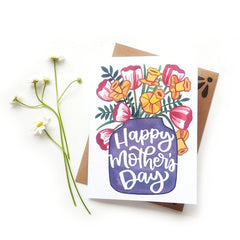 Floral Mother's Day Greeting Card at CheerNotes