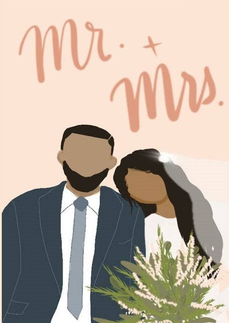 Picture of Mr. and Mrs. card by AIMS MOON PAPERIE