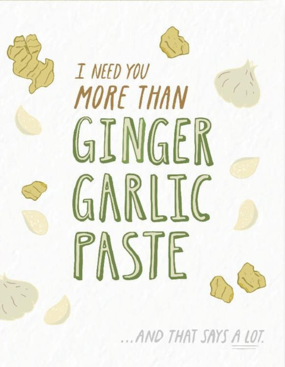 Picture of Ginger Garlic Paste card by PYARFUL