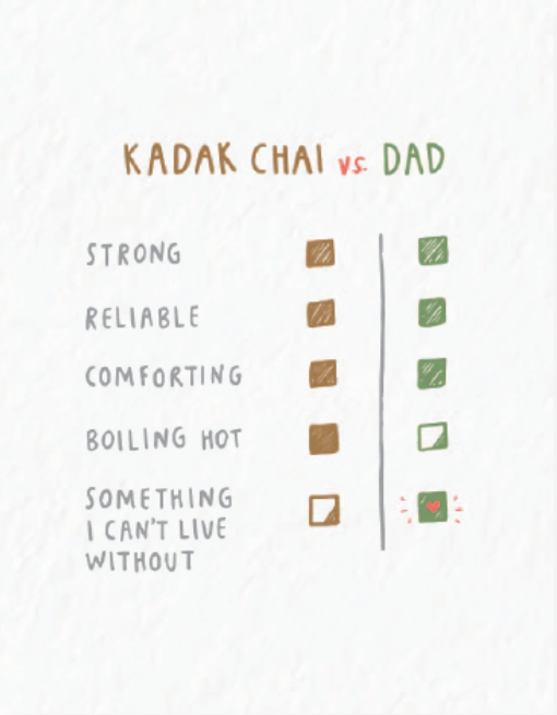 Picture of Dad vs. Chai card by PYARFUL