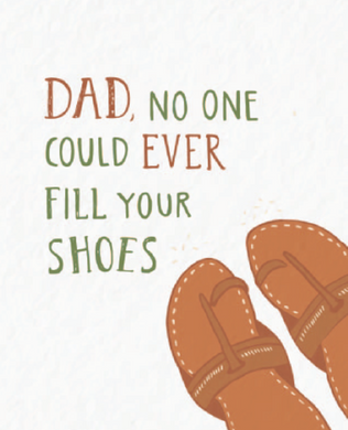 Picture of Dad's Shoes card by PYARFUL