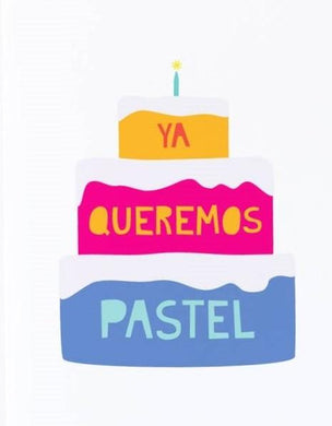 Picture of Queremos Pastel card by GRAPHIC ANTHOLOGY
