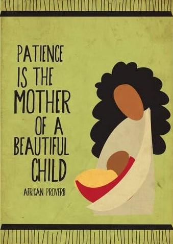 Picture of Patience is the Mother card by BY MS. JAMES