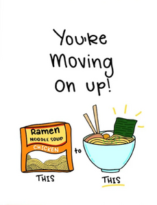 Picture of Moving Up Ramen card by SIYO BOUTIQUE