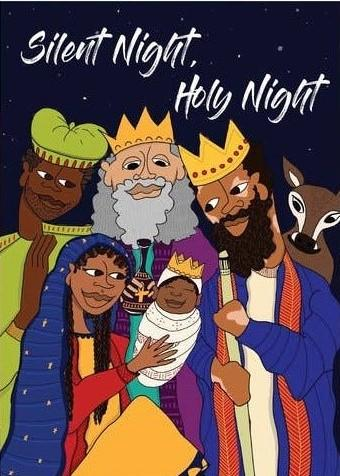Picture of Silent Night card by BY MS. JAMES