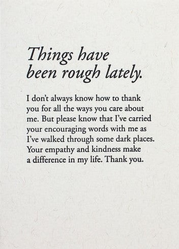 Picture of Things Have Been Rough Lately card by CONSTELLATION & CO.