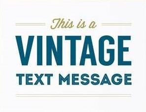 Picture of Vintage Text Message card by GRAPHIC ANTHOLOGY