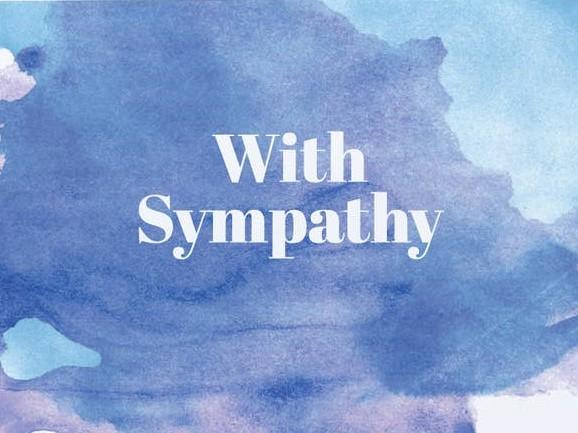 Picture of With Sympathy card by GRAPHIC ANTHOLOGY