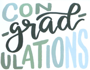 Picture of Con-grad-ulations card by SKETCHY NOTIONS
