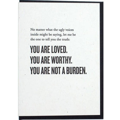Picture of You Are Loved, Worthy, and Not a Burden card by CONSTELLATION & CO.