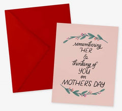 Remembering Her Mother's Day card for loss