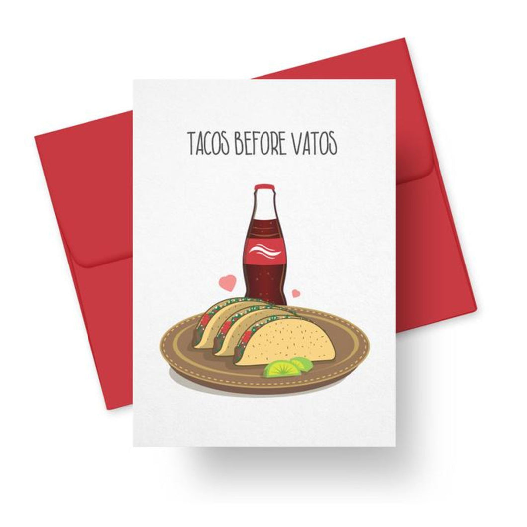 Picture of Tacos Before Vatos card by PAPER TACOS