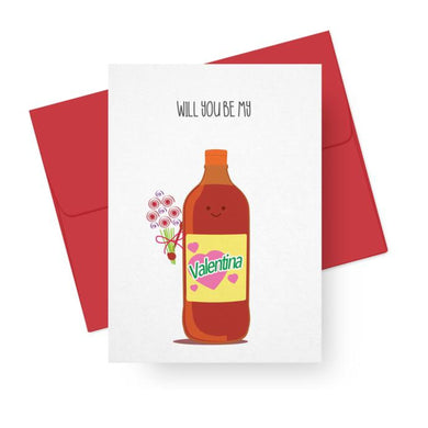 Picture of Will You Be My Valentina card by PAPER TACOS