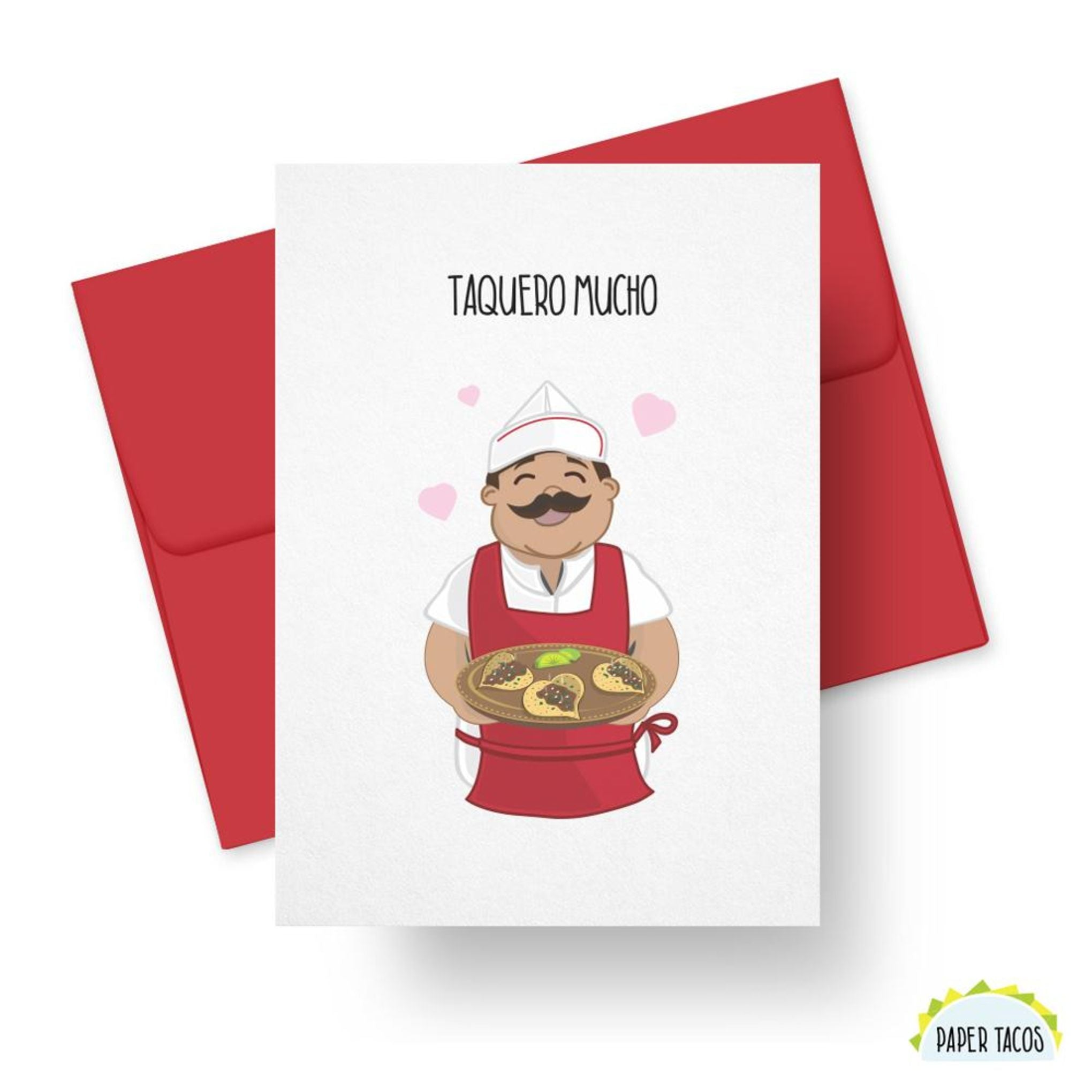 Picture of Taquero Mucho card by PAPER TACOS