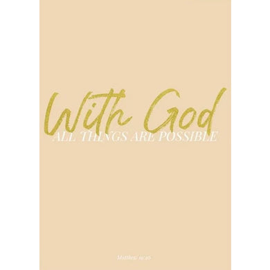Picture of With God card by AIMS MOON PAPERIE