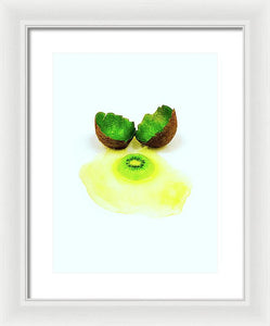 Eggs Over Kiwi - Framed Print