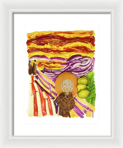 Burger With Scream - Framed Print