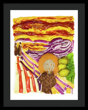 Load image into Gallery viewer, Burger With Scream - Framed Print