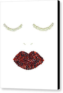 Cherry Lips - Canvas Print