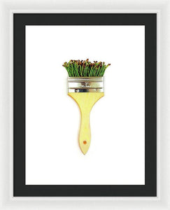 Cherry Stem Brush - Framed Print