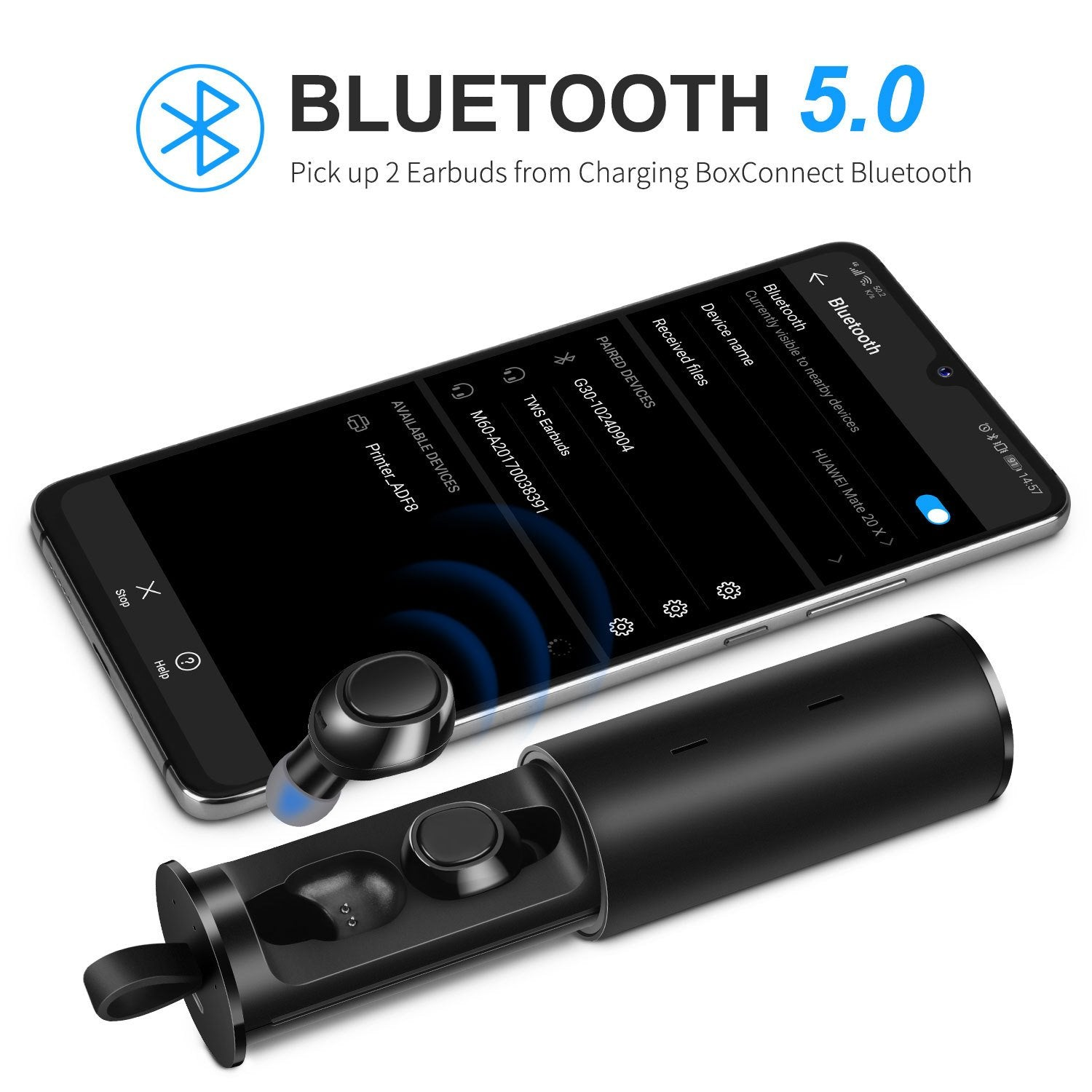 The Strongest  Magnetic Wireless Earbuds