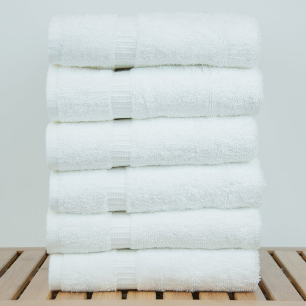 Turkish Cotton White Hand Towel