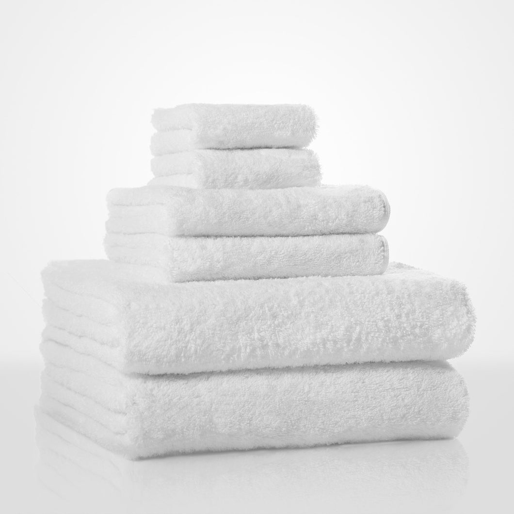 Turkish Cotton White Terry Face Towel