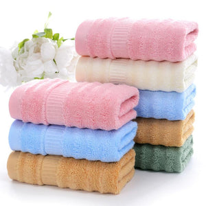 Wholesale Striped Bamboo Fibre Hand Towel