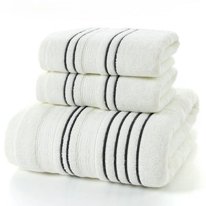 Wholesale Multi-Coloured Striped Cotton Bath Towels