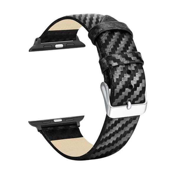 Apple Watch | Case & Strap Leather - Carbon Fiber