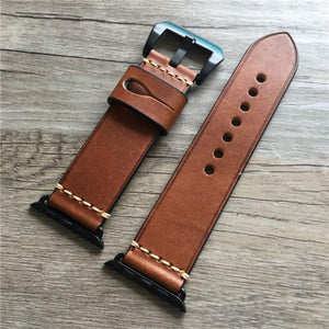 Apple Watch | Genuine Leather Strap | Stitched | Multiple Colors