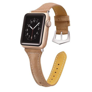 Apple Watch | Genuine Leather Thin Slim Strap | Female | Multiple Colors
