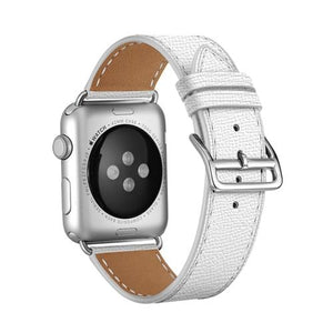 Apple Watch | Leather Strap With Pin Buckle | Multiple Colors | Smooth Leather
