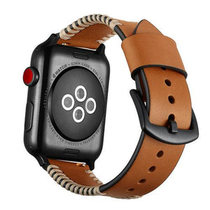 Apple Watch | Luxury Genuine Leather Strap | Multiple Colors | Metal Buckle