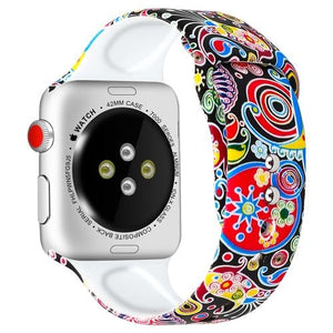 Apple Watch | Silicone Band With Cool Pattern Print