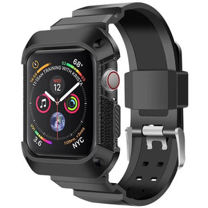 Apple Watch | Silicone Sport Strap | Rugged TPU Protective Watch Case & Band