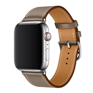 Apple Watch | Stylish Genuine Leather Single Tour Band | Multiple Colors | Pattern | Texture