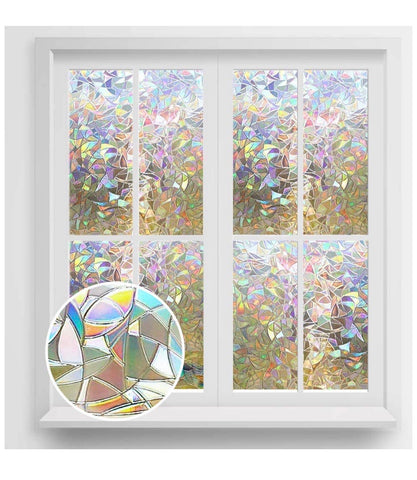 Rainbow window privacy film
