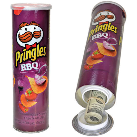Pringles hidden compartment
