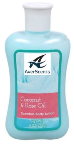 Coconut & Rose Oil Scented Body Lotion, 8 oz