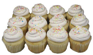 Regular Cupcakes, White (Dozen)