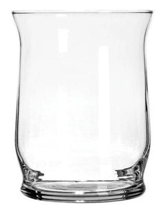 Smooth Glass Hurricane Candleholders, 4 in.